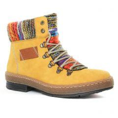 bottines-a-lacets jaune multi: même style de chaussures en ligne pour femmes que les Remonte