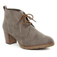 Chaussures femme hiver 2019 - bottines à lacets marco tozzi marron beige