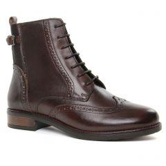 bottines-a-lacets marron café: même style de chaussures en ligne pour femmes que les Tamaris