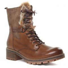 bottillons-a-lacets marron: même style de chaussures en ligne pour femmes que les Rieker