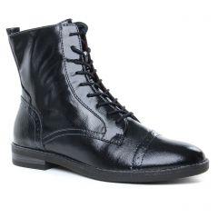 bottines-a-lacets noir bleu: même style de chaussures en ligne pour femmes que les Marco Tozzi