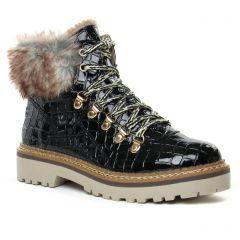 bottines-a-lacets noir croco: même style de chaussures en ligne pour femmes que les Marco Tozzi