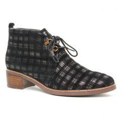 bottines-a-lacets noir doré: même style de chaussures en ligne pour femmes que les Marco Tozzi