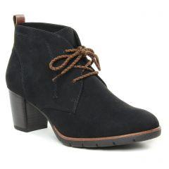 Chaussures femme hiver 2019 - bottines à lacets marco tozzi noir