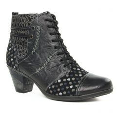 Chaussures femme hiver 2019 - bottines à lacets Remonte noir multi