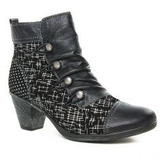 bottines-a-lacets noir multi: même style de chaussures en ligne pour femmes que les Marco Tozzi