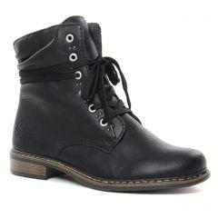 Chaussures femme hiver 2019 - bottines à lacets rieker noir