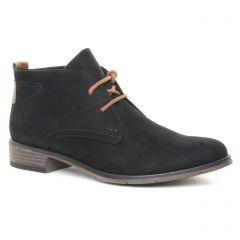 bottines-a-lacets noir velours: même style de chaussures en ligne pour femmes que les Marco Tozzi