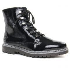 Chaussures femme hiver 2019 - bottines à lacets rieker noir vernis