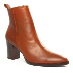 bottines-talon marron: même style de chaussures en ligne pour femmes que les Scarlatine