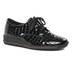 Chaussures femme hiver 2019 - derbys compensées rieker noir