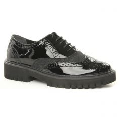 derbys-talons-compenses noir: même style de chaussures en ligne pour femmes que les Marco Tozzi