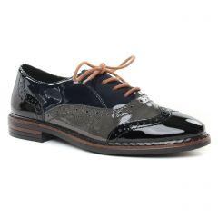 Chaussures femme hiver 2019 - derbys rieker gris bleu noir