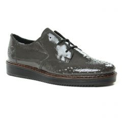 derbys gris vernis: même style de chaussures en ligne pour femmes que les Rieker