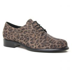 derbys marron léopard: même style de chaussures en ligne pour femmes que les Tamaris