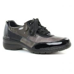 Chaussures femme hiver 2019 - derbys rieker noir gris