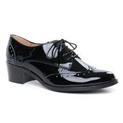 derbys noir vernis: même style de chaussures en ligne pour femmes que les Tamaris