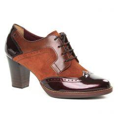 derbys-talon marron bordeaux: même style de chaussures en ligne pour femmes que les Tamaris