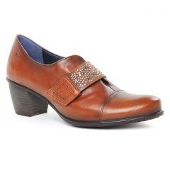 Chaussures femme hiver 2019 - derbys talon Dorking marron