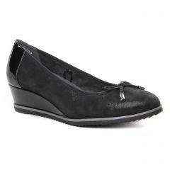 Chaussures femme hiver 2019 - ballerines compensées tamaris noir