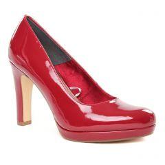 Chaussures femme hiver 2019 - escarpins tamaris rouge vernis