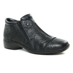 Chaussures femme hiver 2019 - low boots confort rieker noir