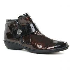 Chaussures femme hiver 2019 - low boots Geo Reino marron foncé