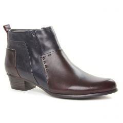 low-boots noir bordeaux: même style de chaussures en ligne pour femmes que les Caprice