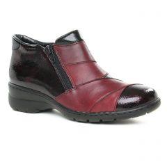 Chaussures femme hiver 2019 - mocassins confort rieker bordeaux