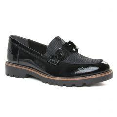 mocassins-confort noir comb: même style de chaussures en ligne pour femmes que les Rieker
