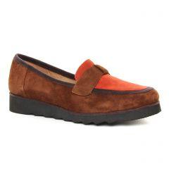 mocassins marron brique: même style de chaussures en ligne pour femmes que les Rieker