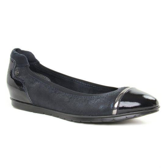 Ballerines Tamaris 22103 Navy Comb, vue principale de la chaussure femme