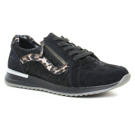 Tennis Et Baskets Mode Rieker N7033-00 Schwarz, vue principale de la chaussure femme