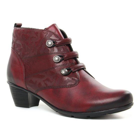 Bottines Et Boots Remonte R7577-35 Vino, vue principale de la chaussure femme