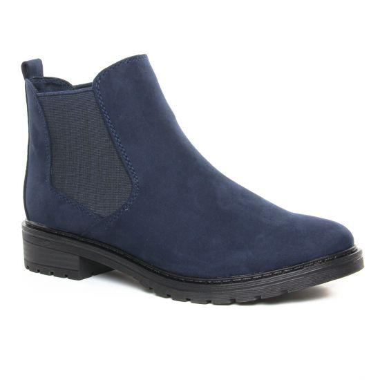 Bottines Et Boots Marco Tozzi 25490 Navy Comb, vue principale de la chaussure femme