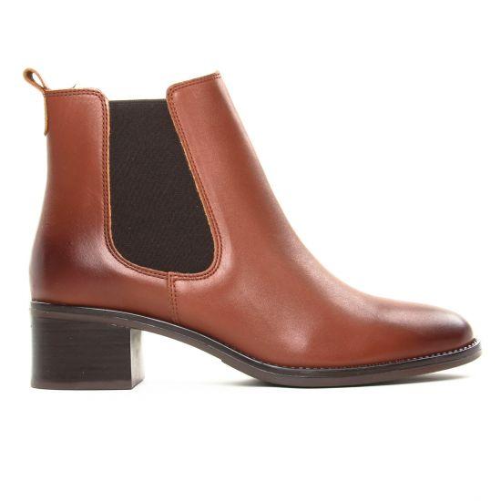 Scarlatine 77765 Cognac | boot élastiquées marron automne