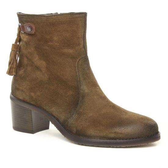 Bottines Et Boots Dorking D8057 Ambra Café, vue principale de la chaussure femme