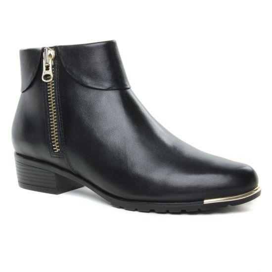 Bottines Et Boots Caprice 25310 Black Nappa, vue principale de la chaussure femme