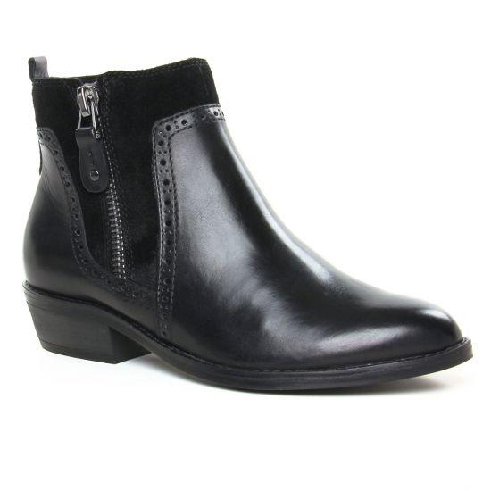 Bottines Et Boots Marco Tozzi 25393 Black Ant Comb, vue principale de la chaussure femme