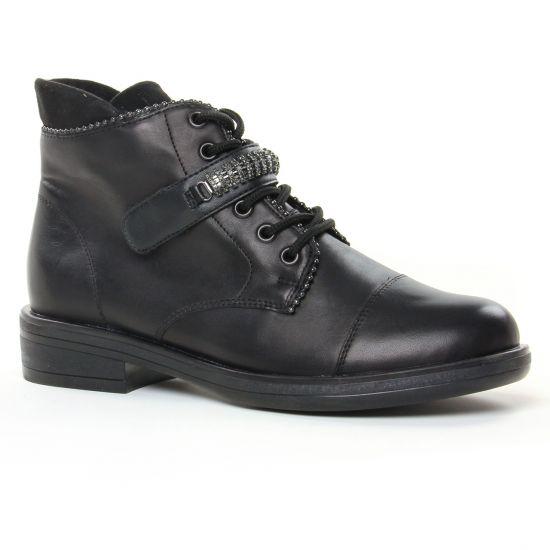 Bottines Et Boots Remonte R4981-01 Noir, vue principale de la chaussure femme
