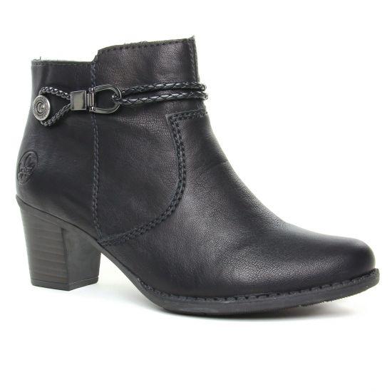 Bottines Et Boots Rieker L7670-00 Noir, vue principale de la chaussure femme