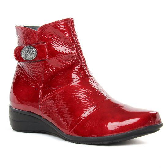 Bottines Et Boots Geo Reino Estafora Vernis Rouge, vue principale de la chaussure femme
