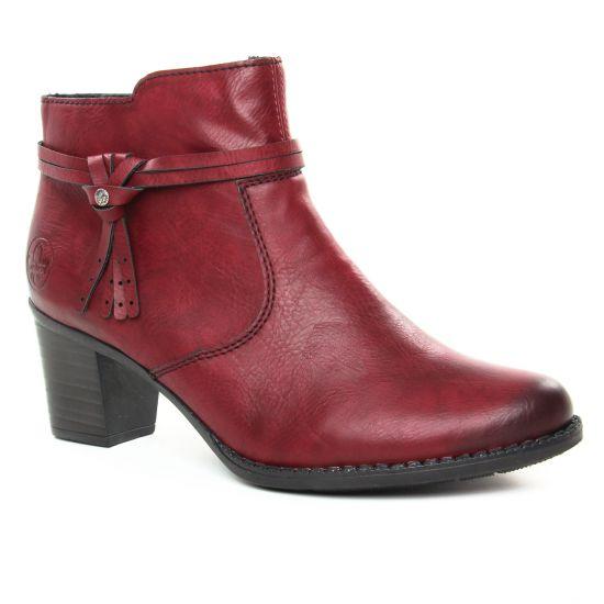 Bottines Et Boots Rieker L7664-35 Wine, vue principale de la chaussure femme