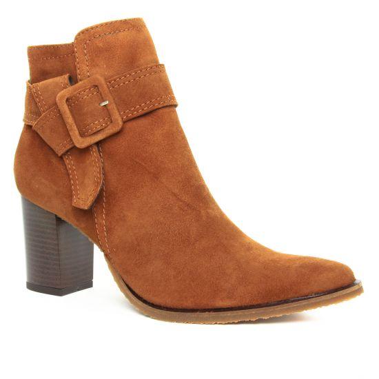 Bottines Et Boots Scarlatine Fintak Velours Camel, vue principale de la chaussure femme
