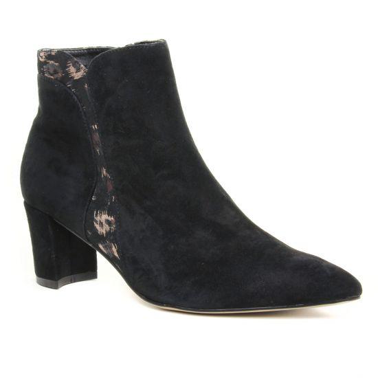 Bottines Et Boots Fugitive Paros Noir, vue principale de la chaussure femme