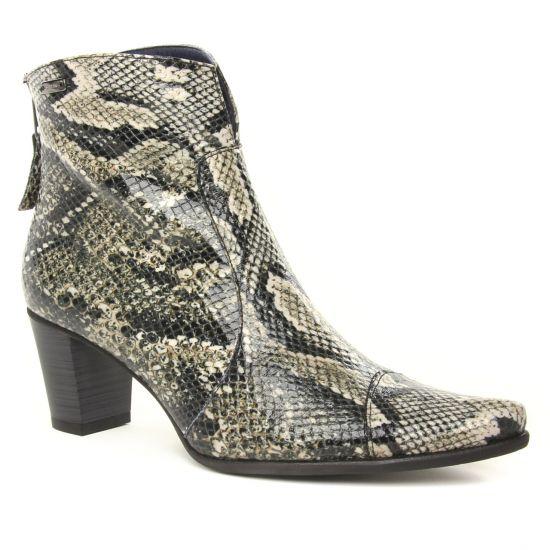 Bottines Et Boots Dorking D6034 Graffite, vue principale de la chaussure femme