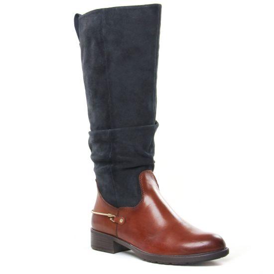 Bottes Tamaris 25526 Cognac Navy, vue principale de la chaussure femme