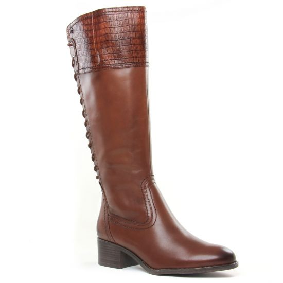 Bottes Tamaris 25543 Cognac Croco, vue principale de la chaussure femme