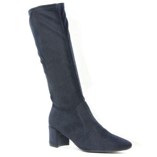 Bottes Fugitive Doval Navy, vue principale de la chaussure femme