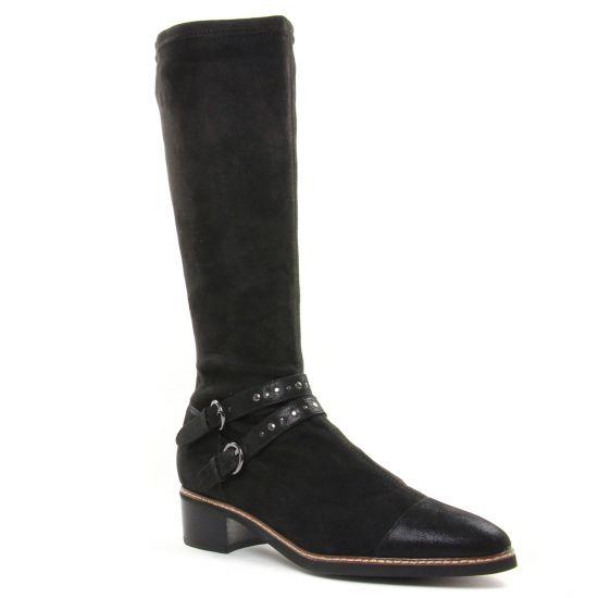 Bottes Fugitive Saga Noir, vue principale de la chaussure femme